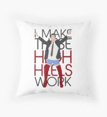I MAKE THESE HIGH HEELS WORK-Kinky Boots Brendon Urie Throw Pillow