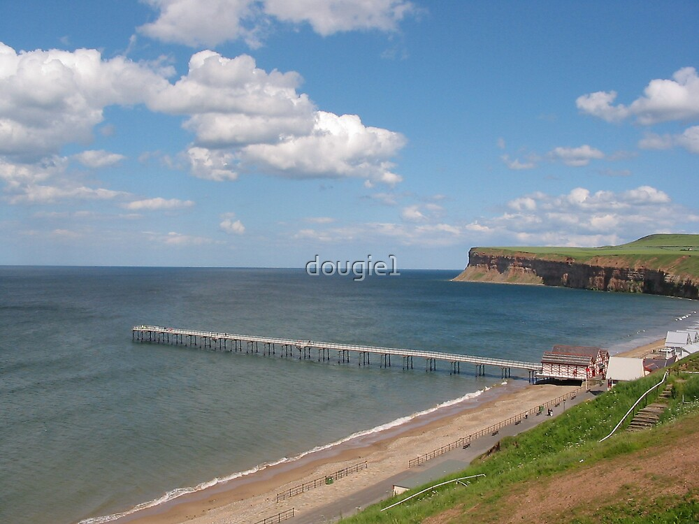 Saltburn bay from the cliffs by dougie1
