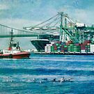 Sunny afternoon in the Port of Los Angeles by Celeste Mookherjee