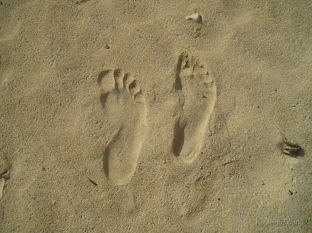 Footprints in the sand by Kayleigh Sparks