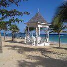 Pagoda on the beach in Jamaica by Kayleigh Sparks
