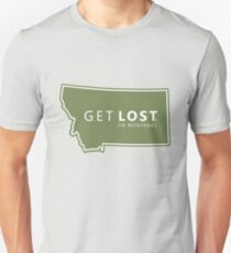Get Lost in Montana MT State Decal Unisex T-Shirt