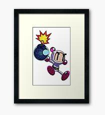 Glitter Bomberman Framed Print