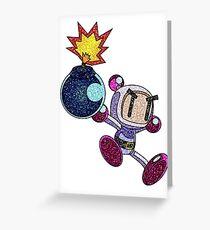 Glitter Bomberman Greeting Card
