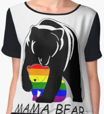 Gay Pride Mama Bear Top mousseline