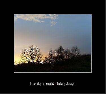 The sky at night by hilarydougill