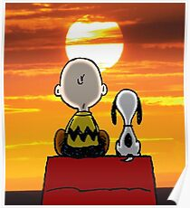 sunset carly snoopy Poster