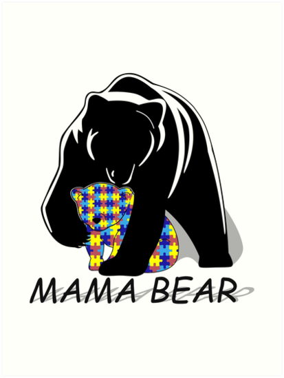 Autism Awareness Mama Bear By Lena Adams
