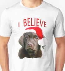 Chocolate Lab Christmas themed T-Shirt