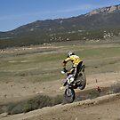 Motocross Racing - Undershot of Racer in yellow @ Cahuilla, CA by leih2008