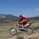 Motocross - Cahuilla, CA Vet X Racing Series, Cahuilla, CA rider bracing for impact  by leih2008