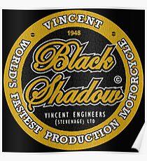 Vincent Black Shadow Vintage Poster