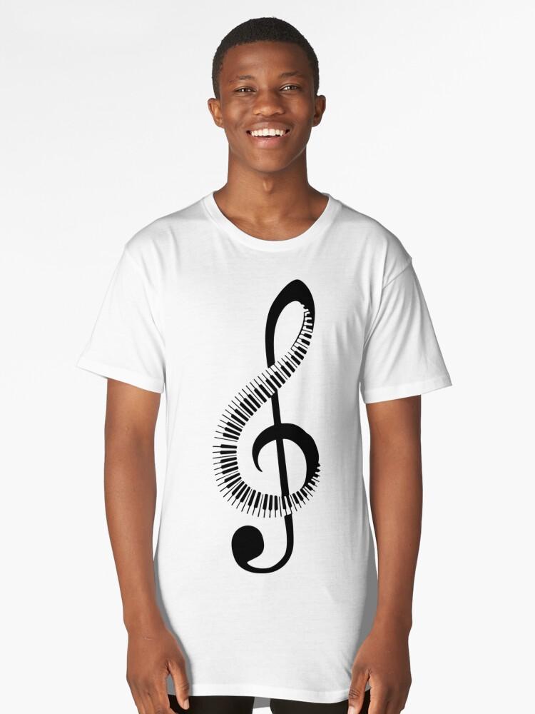 Music Long T-Shirt Front