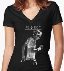 roger federer 4 Women's Fitted V-Neck T-Shirt