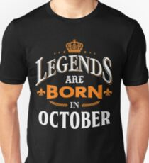 1fb1b1d8 Legends Are Born in October Gifts & Merchandise | Redbubble
