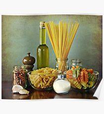 Aglio, olio peperoncino (garlic, oil, chili) noodles Poster