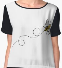 Flying Manchester Bee, Classic Edition Women's Chiffon Top