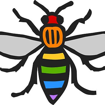 Manchester Bee, Rainbow Edition by bitrot