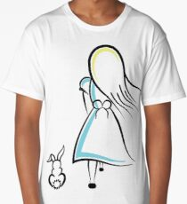 Alice and the White Rabbit Long T-Shirt