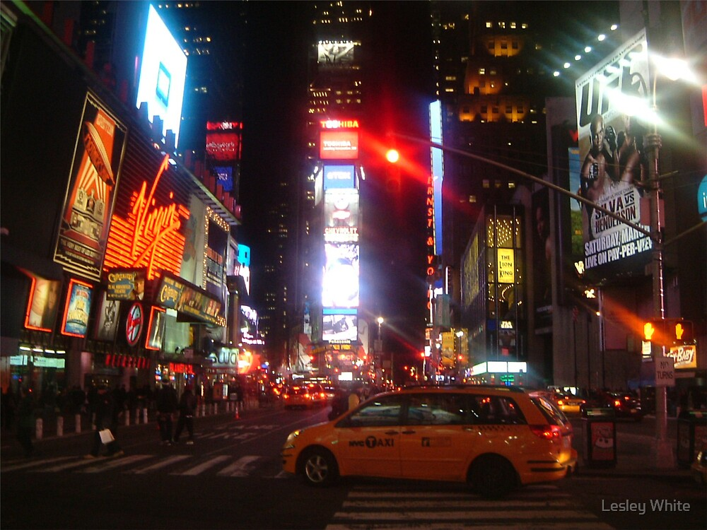 Nightlife Time Square by Lesley White