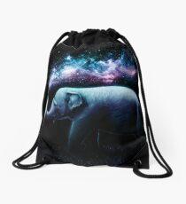 Elephant Splash Drawstring Bag