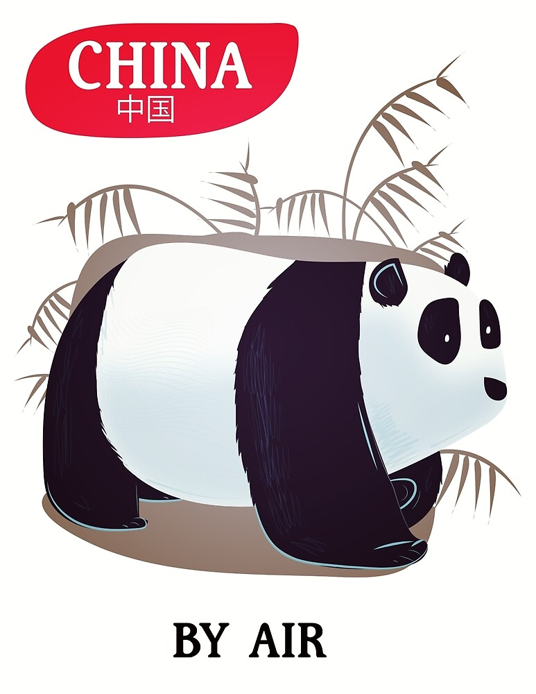 China Panda travel poster by vectorwebstore