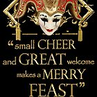 Shakespeare Comedy Of Errors Feast Quote by Incognita Enterprises