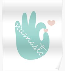 Namaste Peace is in my hand - International Yoga Day Poster