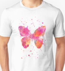 Artsy Butterfly pink and orange T-Shirt