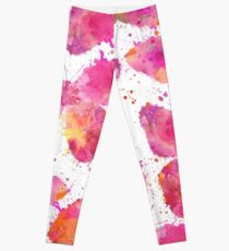 Artsy Butterfly pink and orange Leggings
