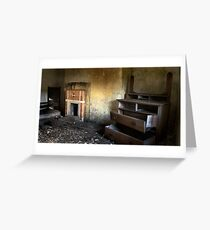 Decaying Bedroom Greeting Card