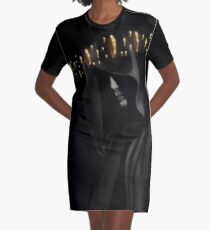 Cloaked Graphic T-Shirt Dress