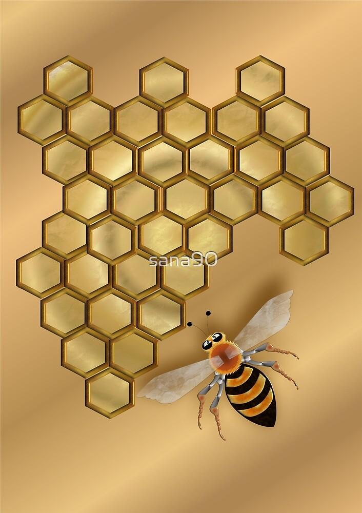 BEE 141 HONEYCOMB.  by sana90