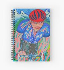 Mountain Trek King Of The Mountain Le Tour De France Spiral Notebook