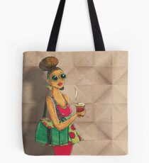 Modern African woman- Morning coffee Tote Bag