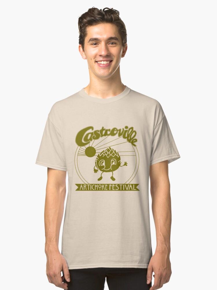 The ORIGINAL CASTROVILLE ARTICHOKE FESTIVAL - Dustin's shirt in Stranger Things! Classic T-Shirt Front