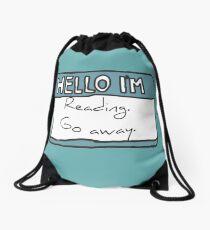 Hello I'm Reading Drawstring Bag