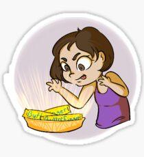"""""""Butterfingers Baby!"""" Sticker Sticker"""