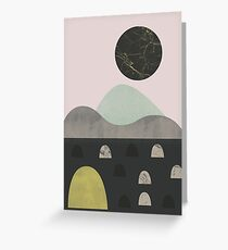 Stones and moon Greeting Card