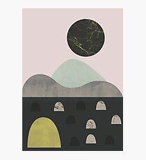 Stones and moon Photographic Print