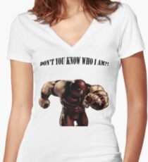 I'M THE JUGGERNAUT Women's Fitted V-Neck T-Shirt