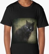 Blacky, playful kitty with green eyes  Long T-Shirt