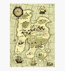 Treasure Map Photographic Print