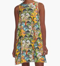 Too Many Birds! - Conure Squad A-Line Dress
