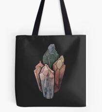 Dark Watercolor Crystals Tote Bag