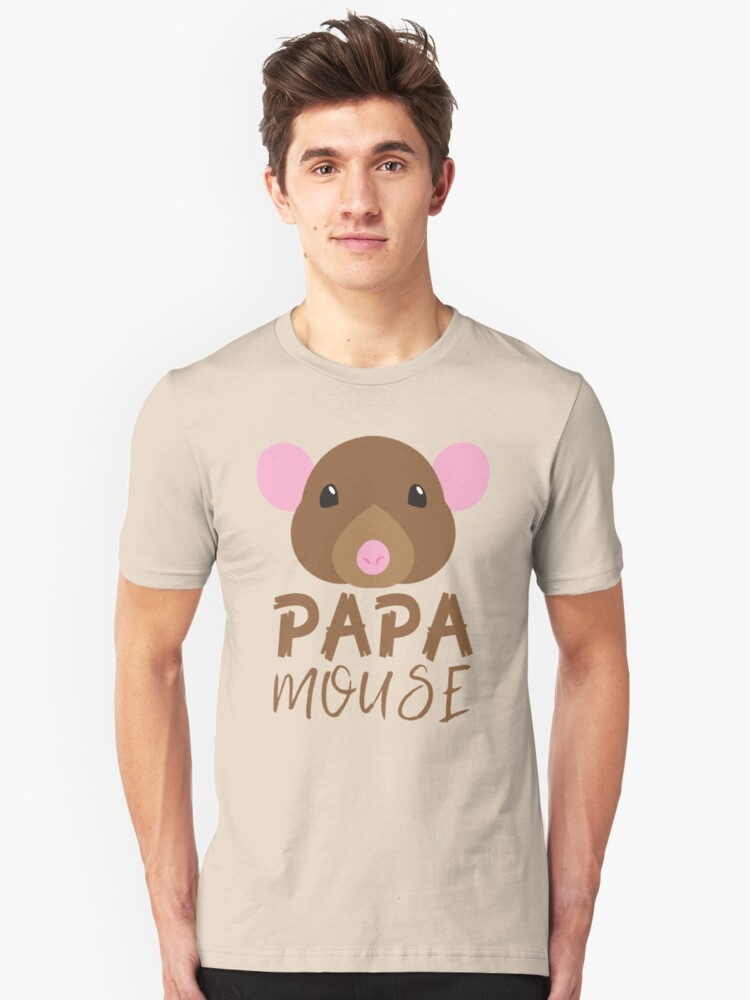 PAPA MOUSE (with matching Baby Mouse and Papa Mouse) Unisex T-Shirt Front