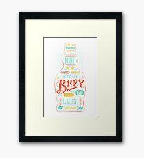 Beer Draught Framed Print