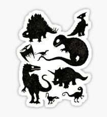 Silhouetted Dinosaurs Sticker
