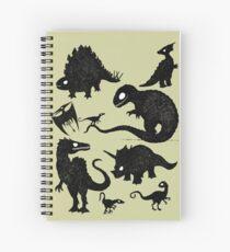 Cuaderno de espiral Dinosaurios silueteados