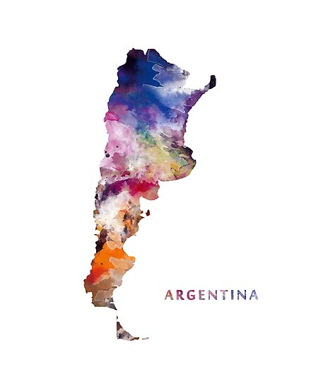 Argentina Map by MonnPrint
